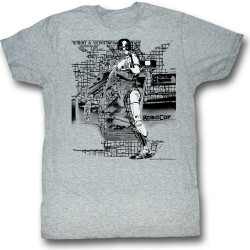 Image for Robocop T-Shirt - Detroit Map