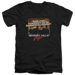 Image for Beverly Hills Cop V Neck T-Shirt - Banana in My Tailpipe