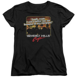 Image for Beverly Hills Cop Womans T-Shirt - Banana in My Tailpipe