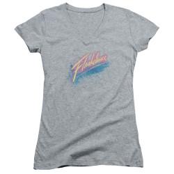 Image for Flashdance Girls V Neck - Spray Logo