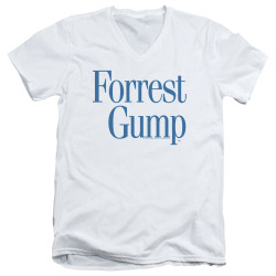 Image for Forrest Gump V Neck T-Shirt - Logo