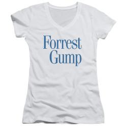 Image for Forrest Gump Girls V Neck - Logo