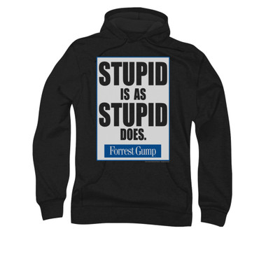 Image for Forrest Gump Hoodie - Stupid is as Stupid Does