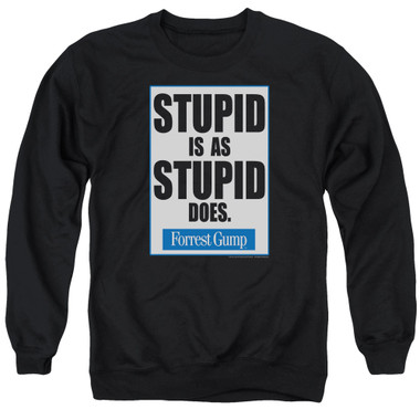 Image for Forrest Gump Crewneck - Stupid is as Stupid Does