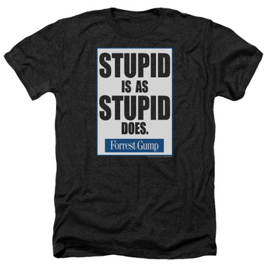Image for Forrest Gump Heather T-Shirt - Stupid is as Stupid Does