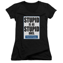 Image for Forrest Gump Girls V Neck - Stupid is as Stupid Does