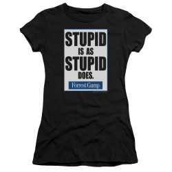Image for Forrest Gump Juniors Premium Bella T-Shirt - Stupid is as Stupid Does