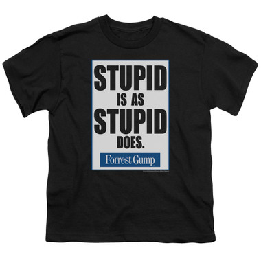 Image for Forrest Gump Youth T-Shirt - Stupid is as Stupid Does