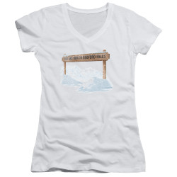 Image for It's a Wonderful Life Girls V Neck - Beford Falls