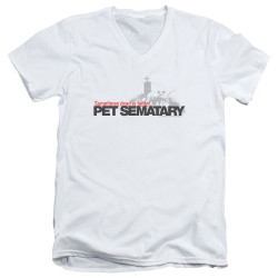 Image for Pet Sematary V Neck T-Shirt - Logo