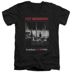 Image for Pet Sematary V Neck T-Shirt - Cat Poster