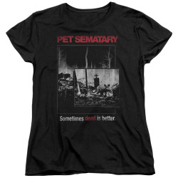 Image for Pet Sematary Womans T-Shirt - Cat Poster