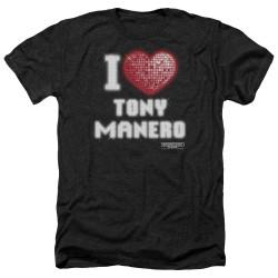Image for Saturday Night Fever Heather T-Shirt - I Heart Tony