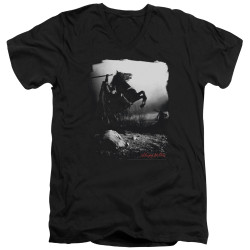 Image for Sleepy Hollow V Neck T-Shirt - Foggy Night