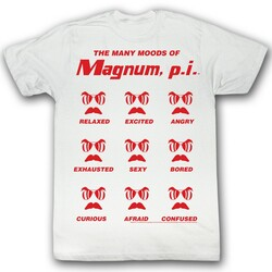 Image for Magnum PI T-Shirt - The Many Moods of Magnum