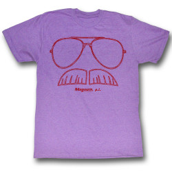 Image for Magnum PI T-Shirt - Stache and Shades