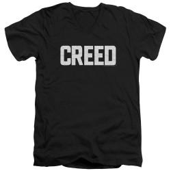 Image for Creed V Neck T-Shirt - Logo Cracked