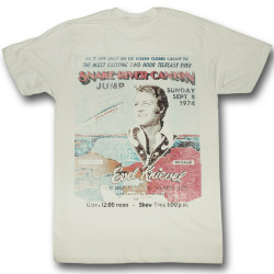 Image for Evel Knievel T-Shirt - Snake River Jump Bill