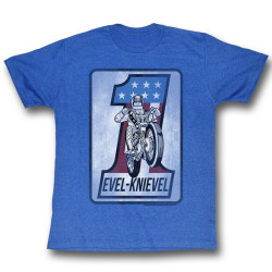 Image for Evel Knievel T-Shirt - Blue One