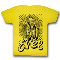 Image for Evel Knievel T-Shirt - Black and Yellow