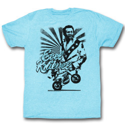 Image for Evel Knievel T-Shirt - Wheelie Stripes