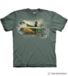 Image for The Mountain T-Shirt - Fish Every Day