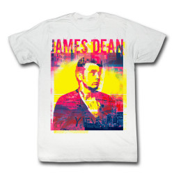 Image for James Dean T-Shirt - Pink Blue