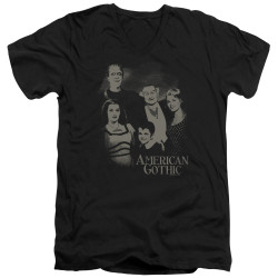 Image for The Munsters T-Shirt - V Neck - American Gothic