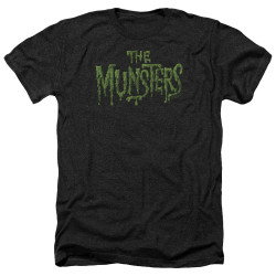 Image for The Munsters Heather T-Shirt - Distress Logo