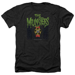 Image for The Munsters Heather T-Shirt - 50 Year Logo