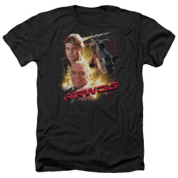 Image for Airwolf Heather T-Shirt - Poster