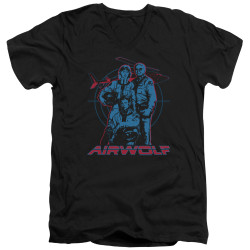 Image for Airwolf T-Shirt - V Neck - Graphic