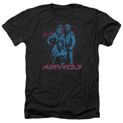 Image for Airwolf Heather T-Shirt - Graphic