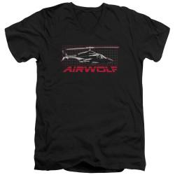 Image for Airwolf T-Shirt - V Neck - Grid