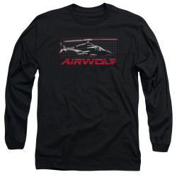 Image for Airwolf Long Sleeve T-Shirt - Grid