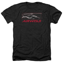 Image for Airwolf Heather T-Shirt - Grid