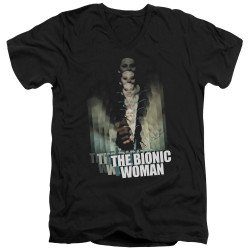 Image for Bionic Woman T-Shirt - V Neck - Motion Blur