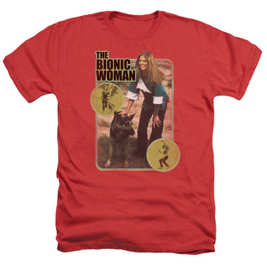 Image for Bionic Woman Heather T-Shirt - Jamie & Max