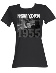 Image for James Dean Girls T-Shirt - New York '55