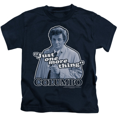Image for Columbo Kids T-Shirt - Just One More Thing