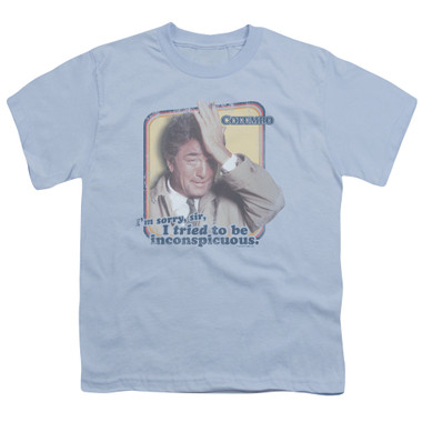 Image for Columbo Youth T-Shirt - Inconspicuous