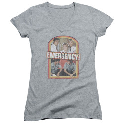 Image for Emergency Girls V Neck T-Shirt - Retro Cast