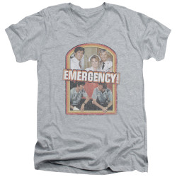 Image for Emergency T-Shirt - V Neck - Retro Cast