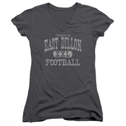 Image for Friday Night Lights Girls V Neck T-Shirt - Property of East Dillon Football