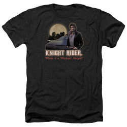 Image for Knight Rider Heather T-Shirt - Full Moon