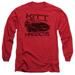 Image for Knight Rider Long Sleeve T-Shirt - KITT Happens