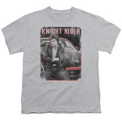 Image for Knight Rider Youth T-Shirt - Knight and KITT
