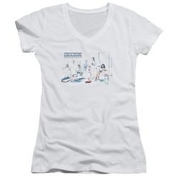Image for Law and Order Girls V Neck T-Shirt - SVU Dominos