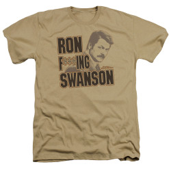 Image for Parks & Rec Heather T-Shirt - I'm Ron F***ing Swanson