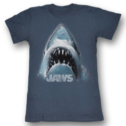 Image for Jaws Shark Face Girls T-Shirt